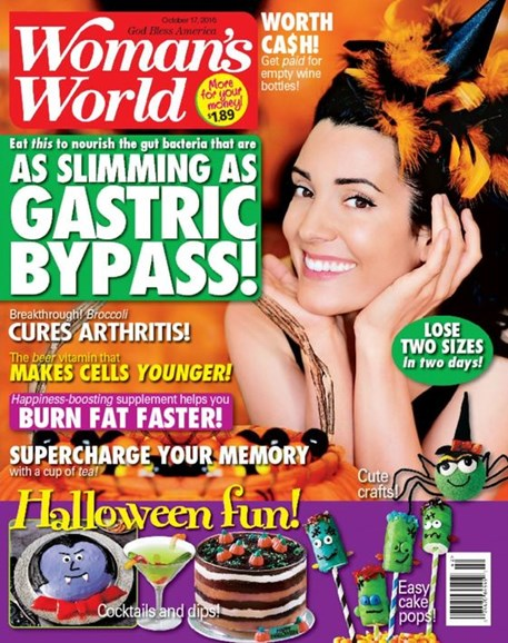 Woman's World Cover - 10/17/2016