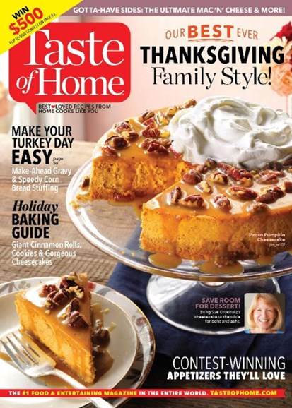 Taste of Home Cover - 11/1/2016