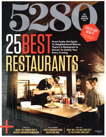 5280 Magazine Cover - 10/1/2016