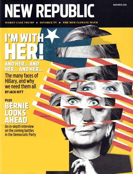 The New Republic Cover - 11/1/2016