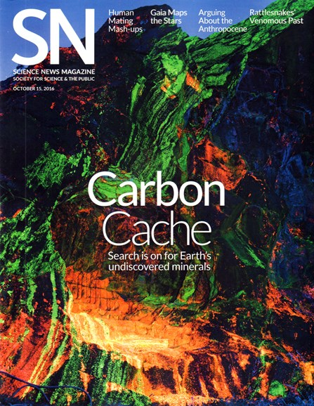 Science News Cover - 10/15/2016
