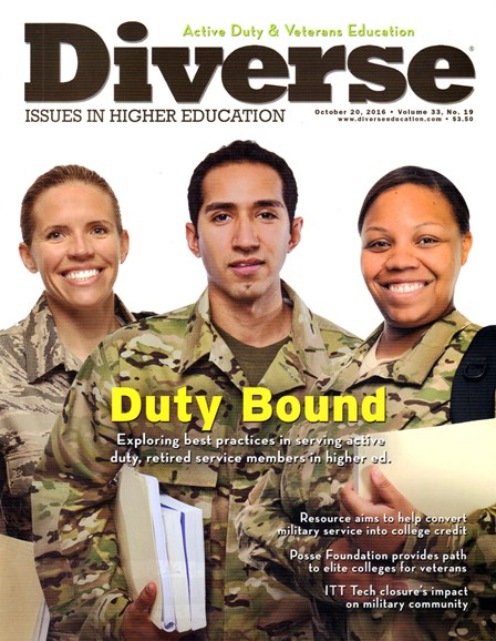 Diverse: Issues In Higher Education Cover - 10/20/2016