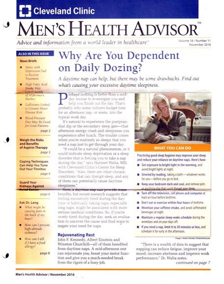 Men's Health Advisor Cover - 11/1/2016