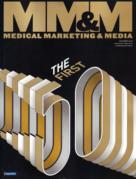 Medical Marketing & Media Cover - 10/1/2016