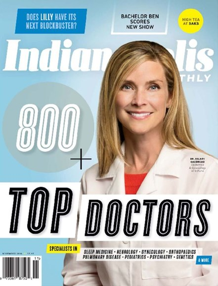Indianapolis Monthly Cover - 11/1/2016