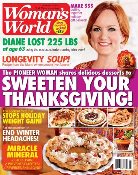 Woman's World Cover - 11/14/2016