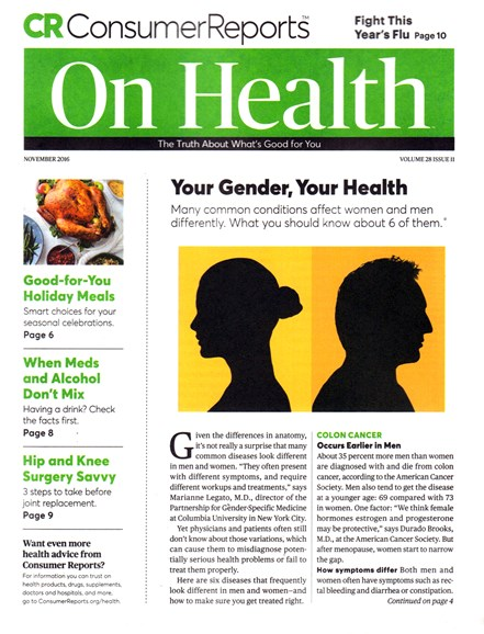 Consumer Reports On Health Cover - 11/1/2016