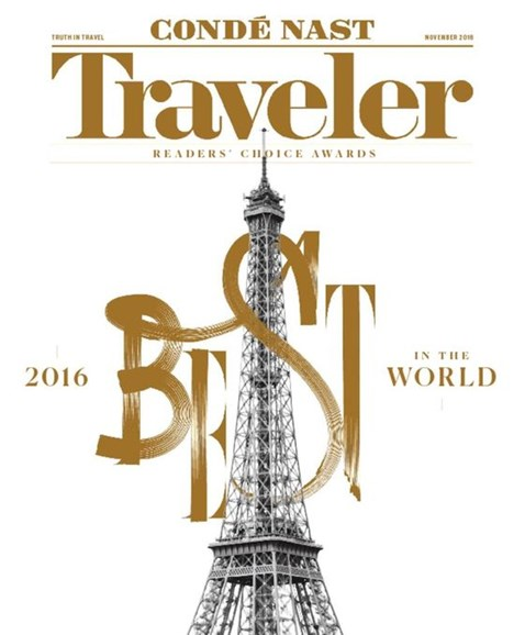 Condé Nast Traveler Cover - 11/1/2016