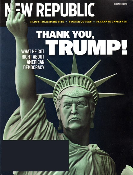 The New Republic Cover - 12/1/2016