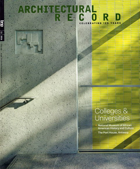 Architectural Record Cover - 11/1/2016