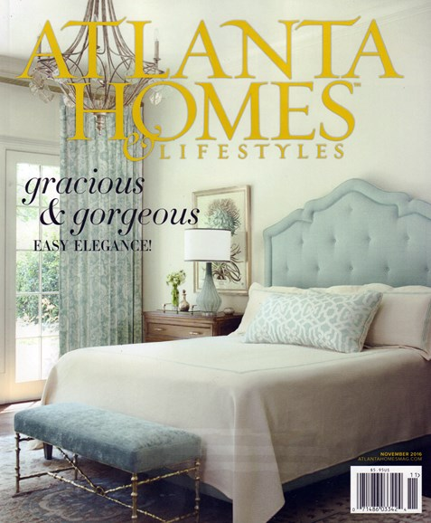 Atlanta Homes & Lifestyles Cover - 11/1/2016
