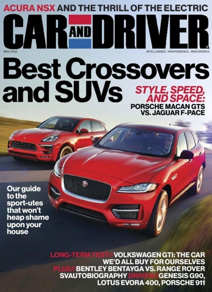 Car And Driver Cover - 11/1/2016