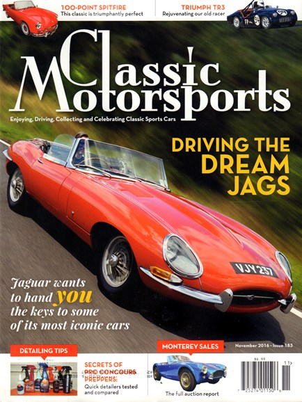 Classic Motorsports Cover - 11/1/2016