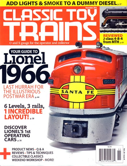Classic Toy Trains Cover - 11/1/2016
