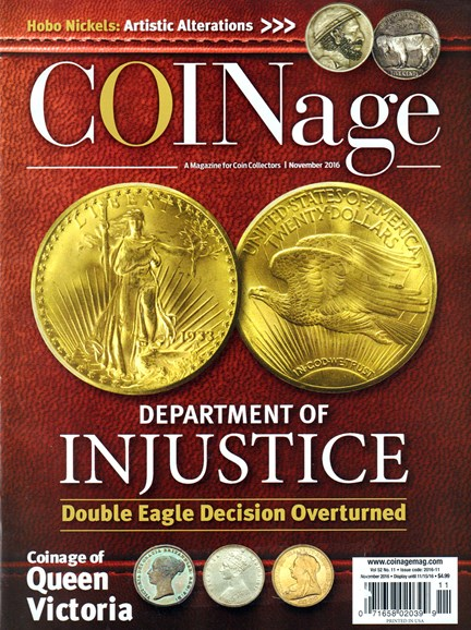 Coinage Cover - 11/1/2016