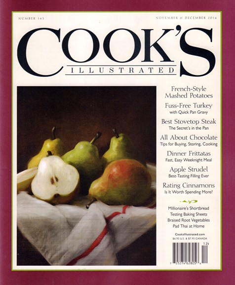 Cook's Illustrated Cover - 11/1/2016