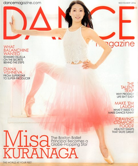 Dance Magazine Cover - 11/1/2016