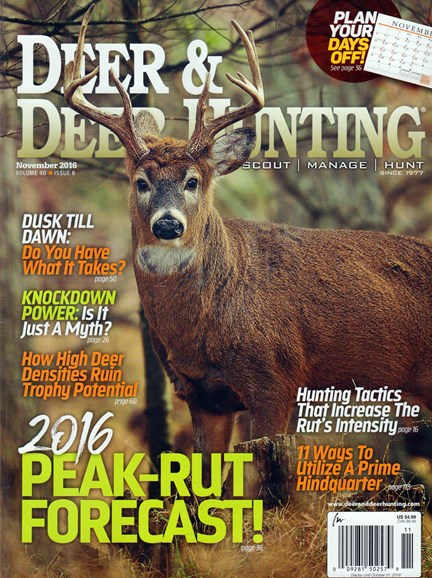 Deer & Deer Hunting Cover - 11/1/2016