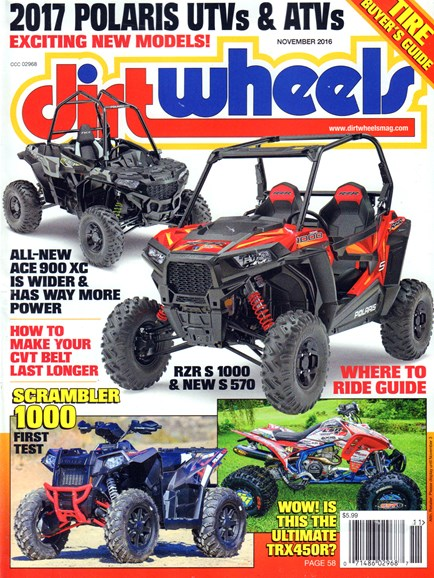 Dirt Wheels Cover - 11/1/2016