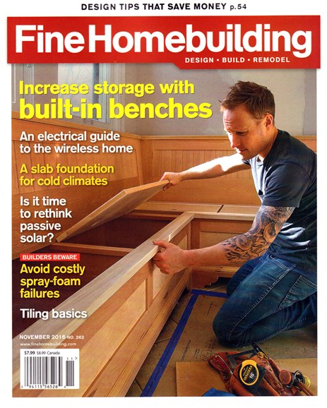 Fine Homebuilding Cover - 11/1/2016