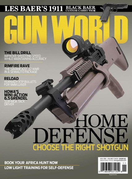 Gun World Cover - 11/1/2016
