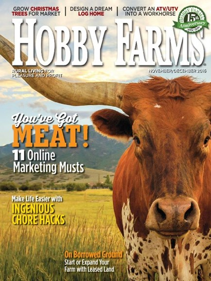 Hobby Farms Cover - 11/1/2016
