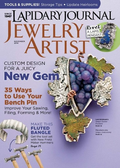 Lapidary Journal Jewelry Artist Cover - 11/1/2016