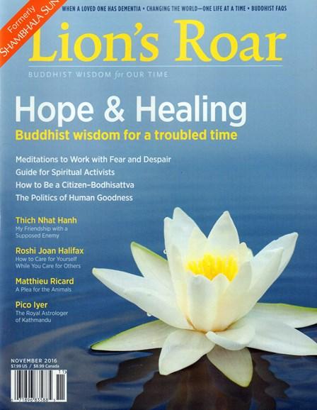 Lion's Roar Cover - 11/1/2016