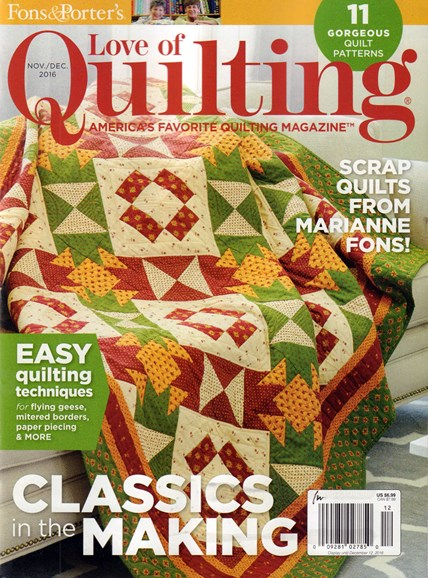 Fons & Porter's Love of Quilting Cover - 11/1/2016