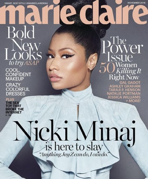 Marie Claire Cover - 11/1/2016