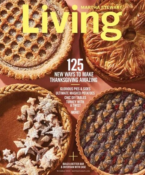 Martha Stewart Living Cover - 11/1/2016