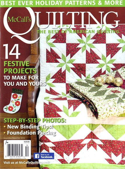 McCall's Quilting Cover - 11/1/2016
