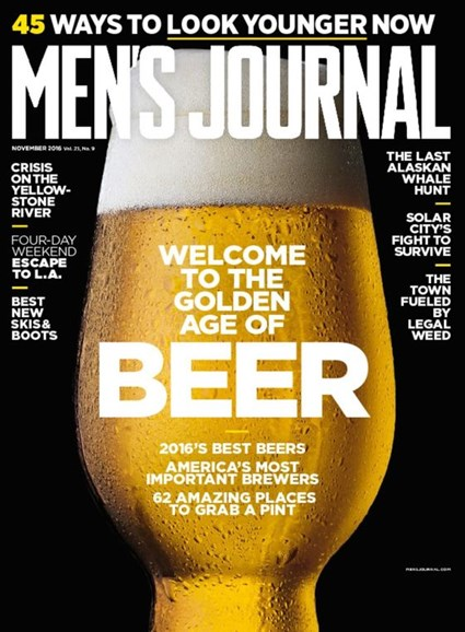 Men's Journal Cover - 11/1/2016