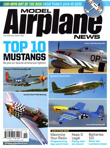 Model Airplane News Cover - 11/1/2016