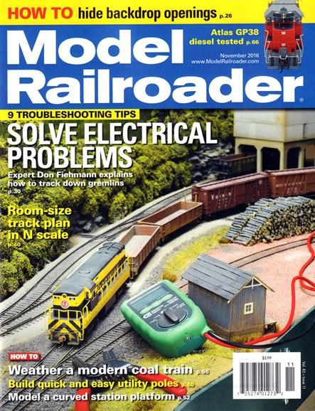 Model Railroader Cover - 11/1/2016
