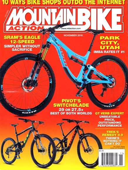 Mountain Bike Action Cover - 11/1/2016