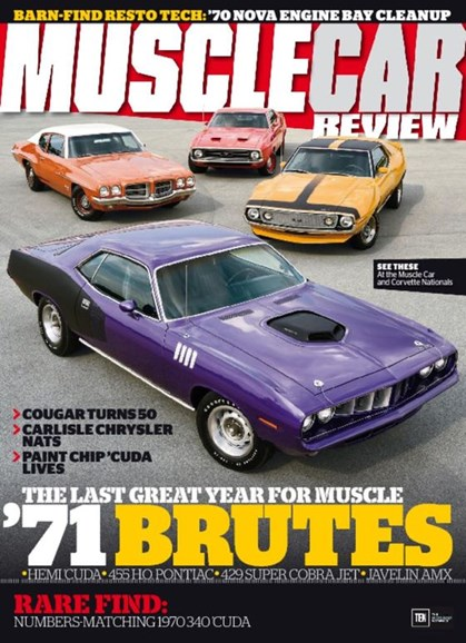 Muscle Car Review Cover - 11/1/2016