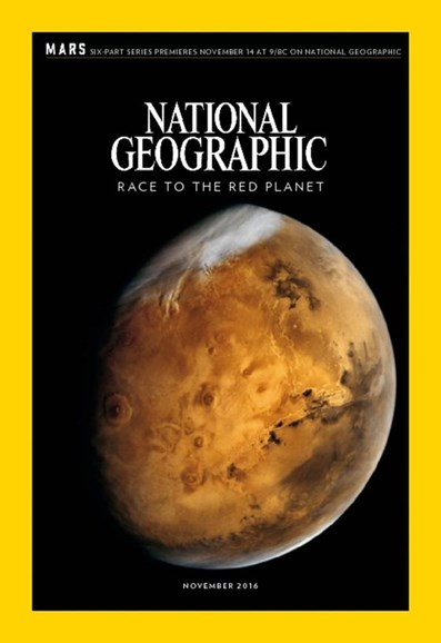 National Geographic Cover - 11/1/2016
