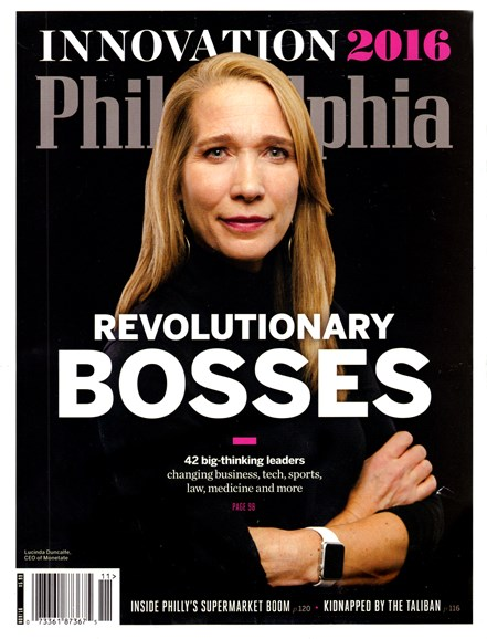 Philadelphia Magazine Cover - 11/1/2016