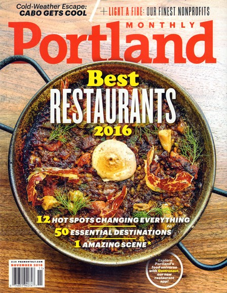 Portland Monthly Cover - 11/1/2016