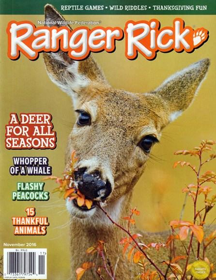 Ranger Rick Cover - 11/1/2016
