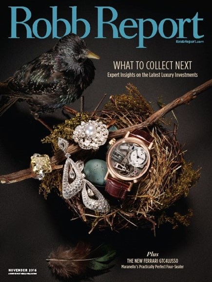 Robb Report Cover - 11/1/2016