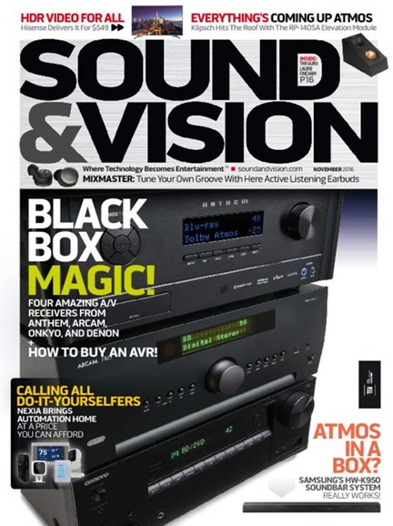 Sound & Vision Cover - 11/1/2016