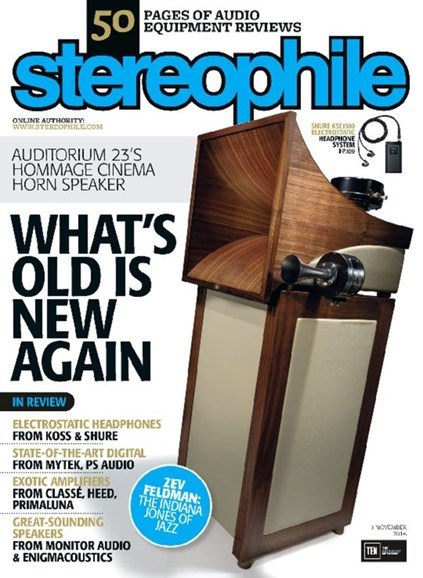 Stereophile Cover - 11/1/2016