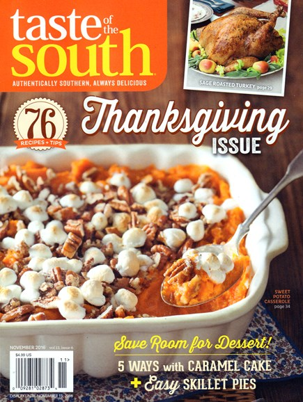 Taste of the South Cover - 11/1/2016