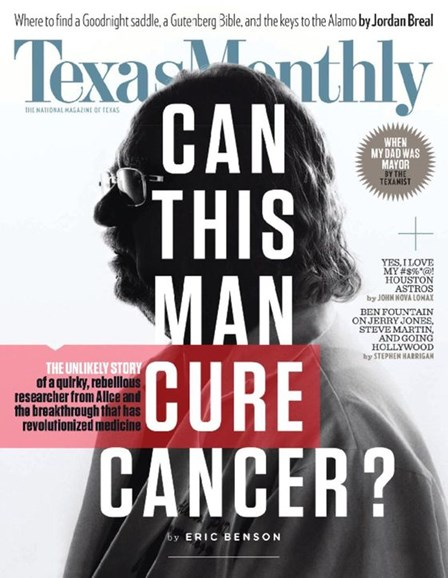 Texas Monthly Cover - 11/1/2016