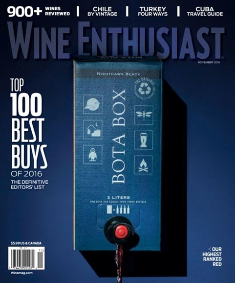 Wine Enthusiast Cover - 11/1/2016