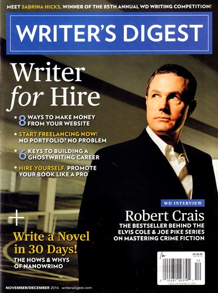Writer's Digest Cover - 11/1/2016