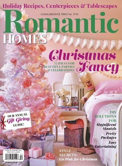 Romantic Homes Cover - 12/1/2016