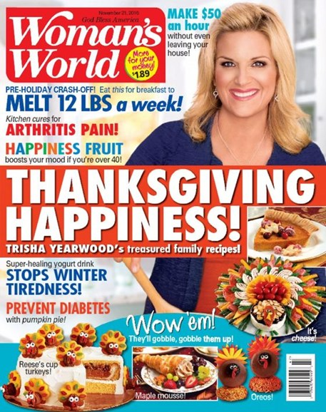 Woman's World Cover - 11/21/2016